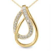 Bold American  Diamond Fancy Double Drop Pendant # BOP011