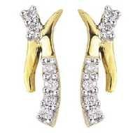 Bold American  Diamond  Fancy Long Earring # BOE006