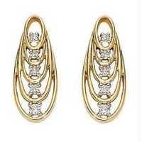 Bold American  Diamond Attractive Oval Shape Earring # BOE007