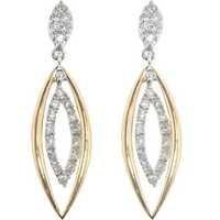 Bold American  Diamond  Stone Dangling Marquise Earring # BOE009