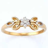 Bold American  Diamond Pressure Set Butter Fly Ring # BOR002