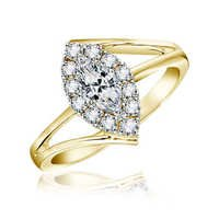 Bold American  Diamond Marquise Shape Ring # BOR0014