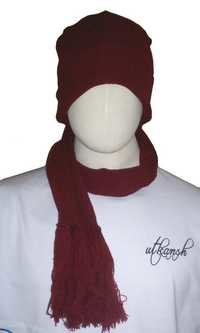 Beenie cap with muffler