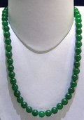 Green Onyx Plain Round Beads String