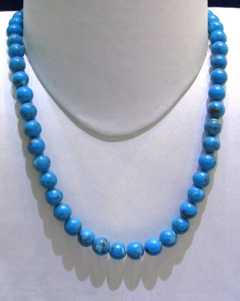Natural Turquoise Round Beads String