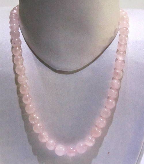 Rose Quartz Plain Round String