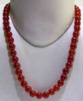 Red Onyx Plain Round Necklace