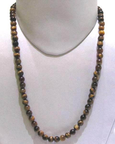 Tiger Eye Round Beads String