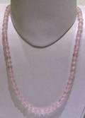Rose Quartz Facetted Round Beads String