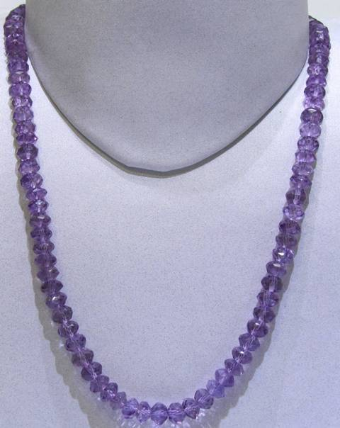 Amethyst Medium Colour Facetted Round String