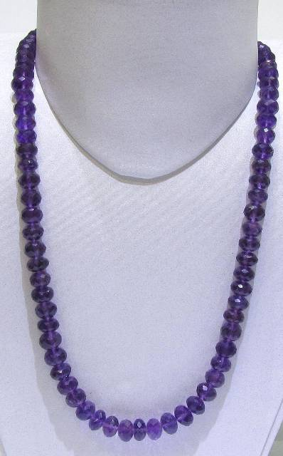Amethyst Dark Colour Faceted String