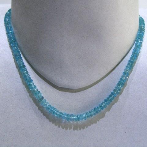 Blue Topaz Faceted String