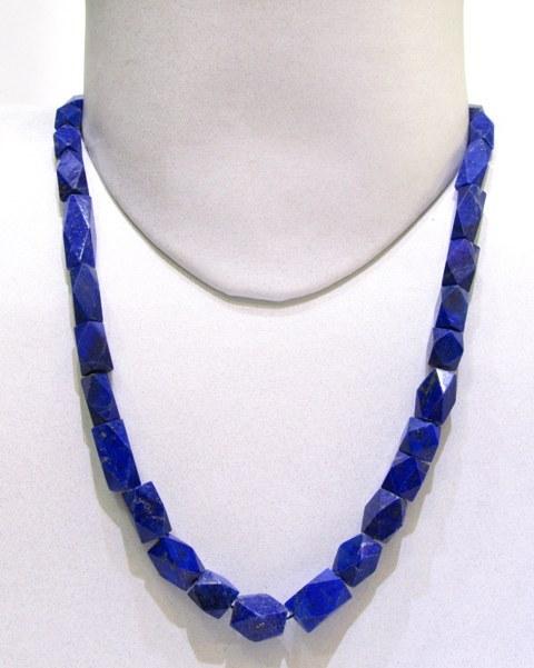 Lapiz Lazuli Long Faceted String