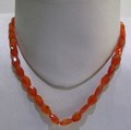 Red Carnelian Oval Faceted String