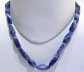 Sodalite Long Twisted String