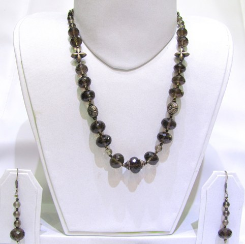 Smoky Topaz Faceted Beads