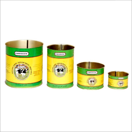Round Open Top Tin Container