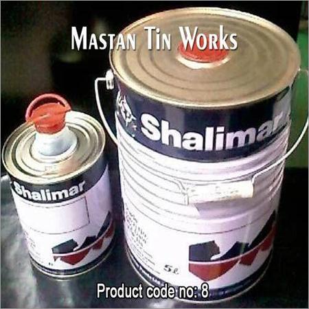 Round Flex Spout Tin Container