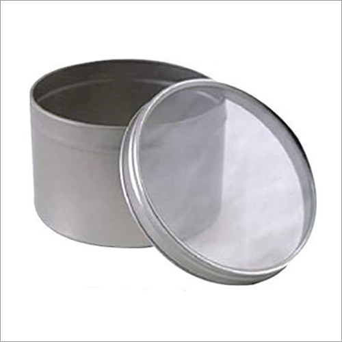 Round Window Lid Tin Containers