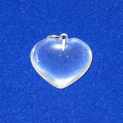 Quartz Crystal Heart Shape Pendant