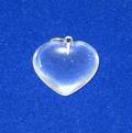 Quartz Crystal Heart Shape Pendant