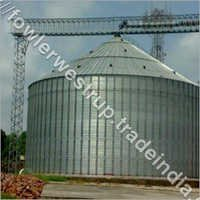 Flat Bottom Silos For 1X10000 MT Soya