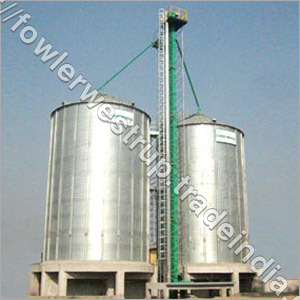 Flat Bottom Silos For 2X500 MT Maize