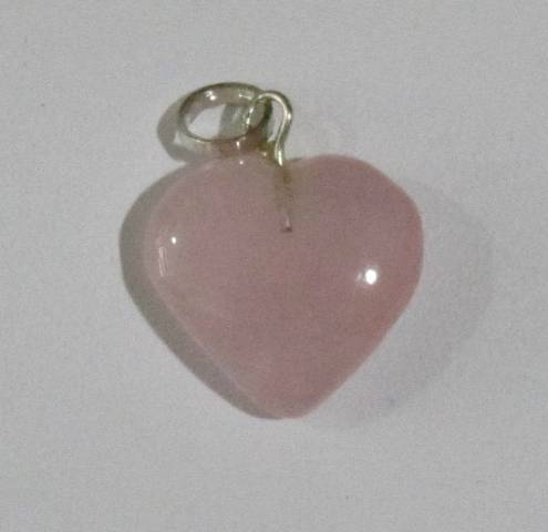 Rose Quartz Heart  Shape