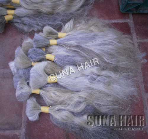 Natural White Bulk Hair