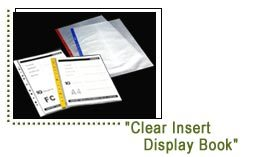 Clear Insert Display Book