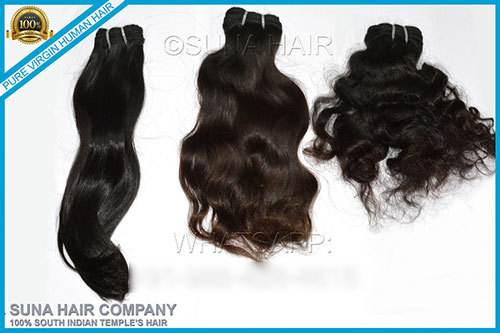 remy machine weft human hair extension