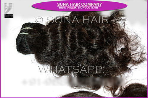 Wholesale price machine weft curly hair extension