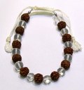 Quartz Crystal Rudraksha Bracelets