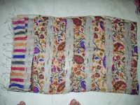 100% organza silk with dupion stripes