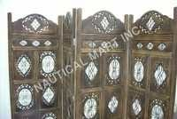 WHITE AND COFFIE COLORED WOODEN SCREEN