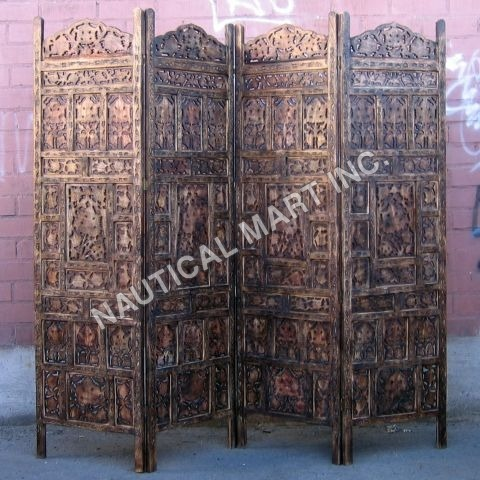 CRAVED WOODEN SCREEN ROOM DIVIDER'S