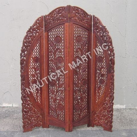 CRAVED WOODEN SCREEN HALF ROUNDED SHAPE