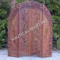 HALF ROUNDED SHAPE WOODEN SCREEN