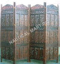 Carved Gilt Wood Oriental Screen