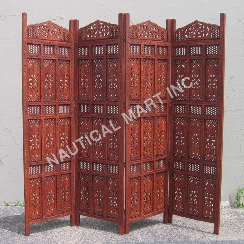 Handmade Antique Wooden Screen