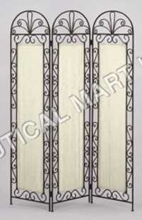 IRON WOODEN GLASS SCREEN