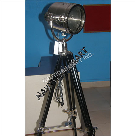 Search Light With Black Wooden Stand