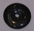 Black Agate Donut Shape
