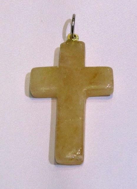 Yellow Quartz Cross Shape