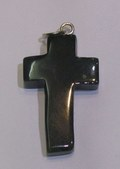 Black Agate Cross Shape