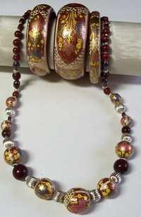 papier machie necklace