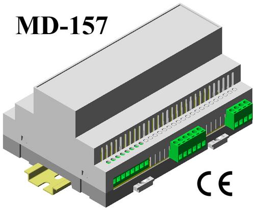 Din Rail PLC Module Enclosure 110*74*157
