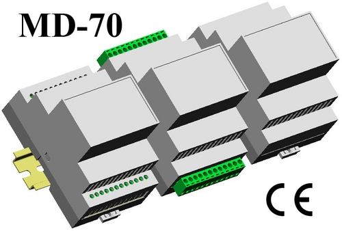 Din Rail Module Enclosure 110*74*70