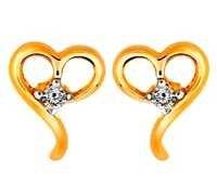 Ag Real Diamond solitaire Diamond Fancy Dearest Heart Earring # AGSE0006