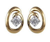 Ag Real Diamond Solitaire Diamond Fancy Earring # AGSE0012